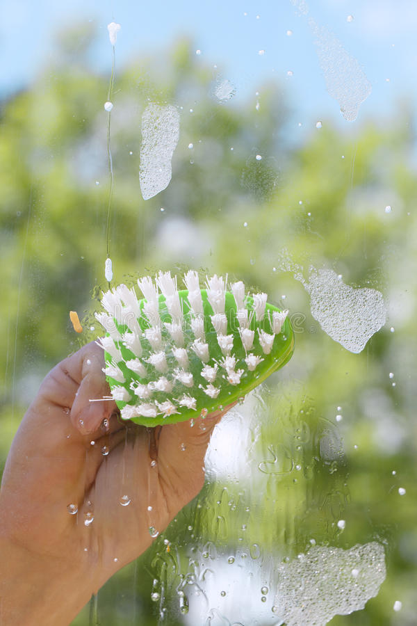 Download Hand Cleaning Window. Stock Images - Image: 25309084