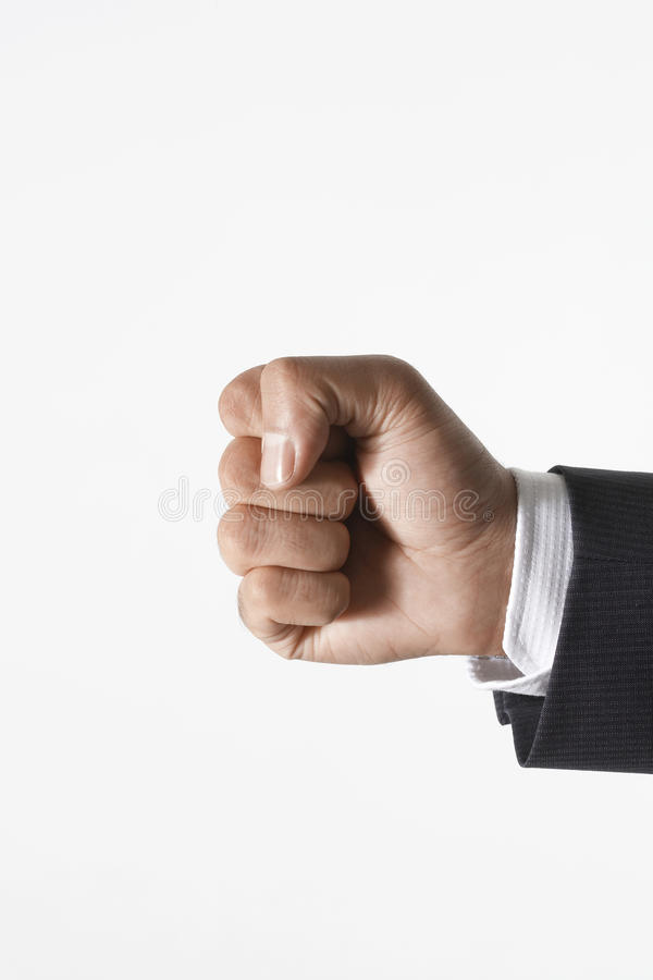 Hand With Clenched Fist Royalty Free Stock Image