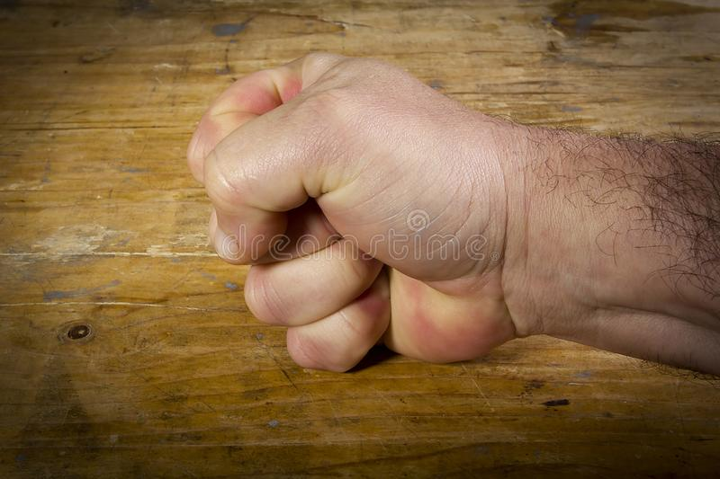 Hand clenched into a fist royalty free stock images