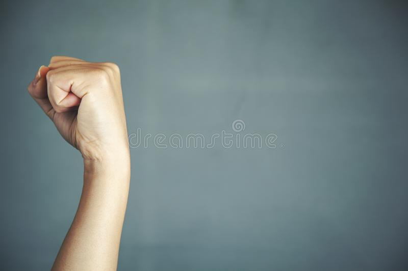 Hand clenched a fist royalty free stock images