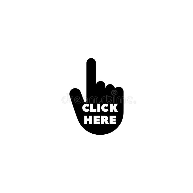 Hand Click Flat Vector Icon. Hand Click. Flat Vector Icon illustration. Simple black symbol on white background. Hand Click sign design template for web and vector illustration