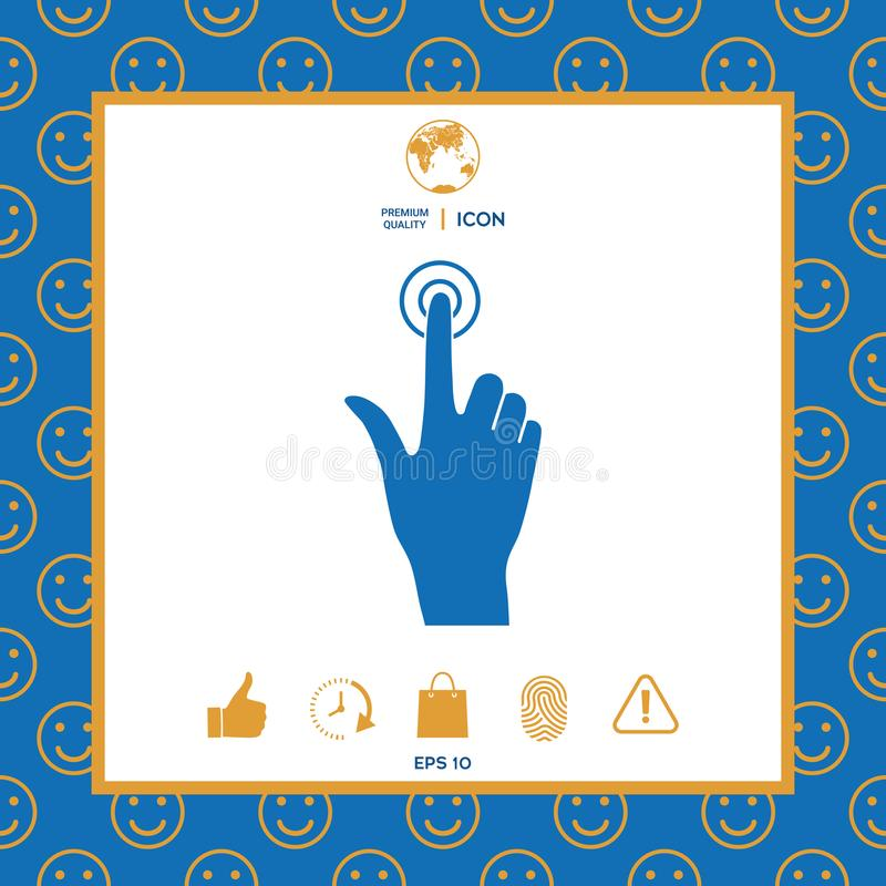 Hand click icon. Signs and symbols - graphic elements for your design royalty free illustration