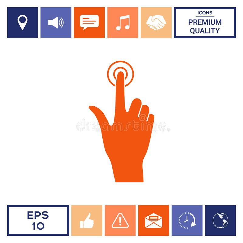Hand click icon. Signs and symbols - graphic elements for your design vector illustration