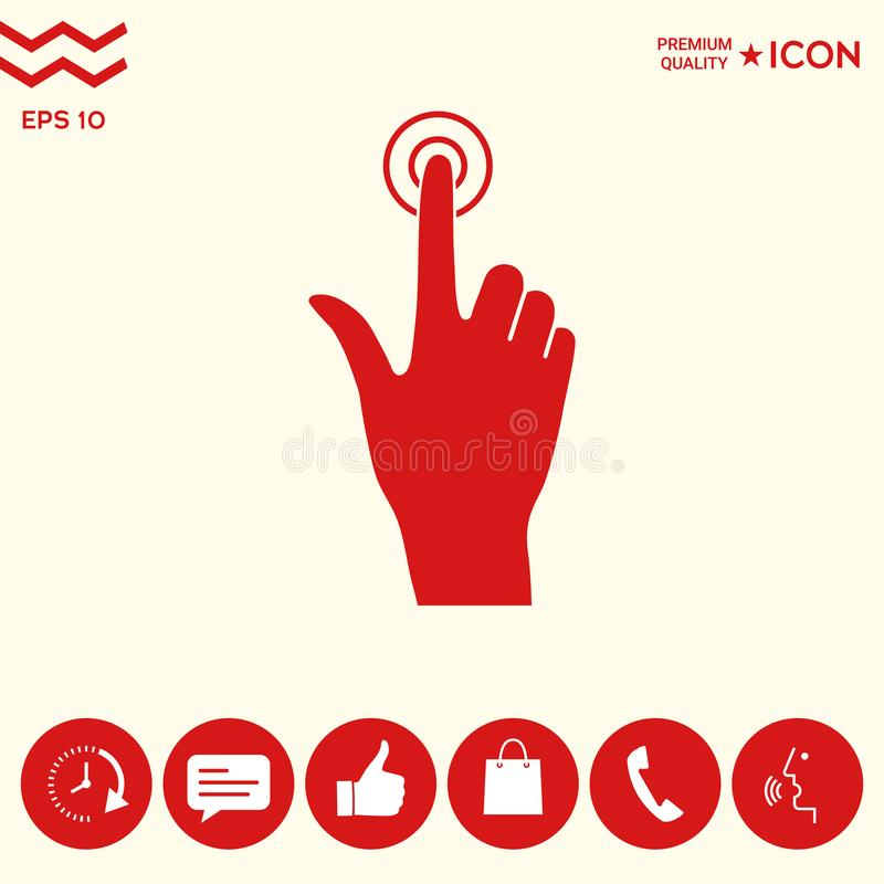 Hand click icon. Signs and symbols - graphic elements for your design stock illustration