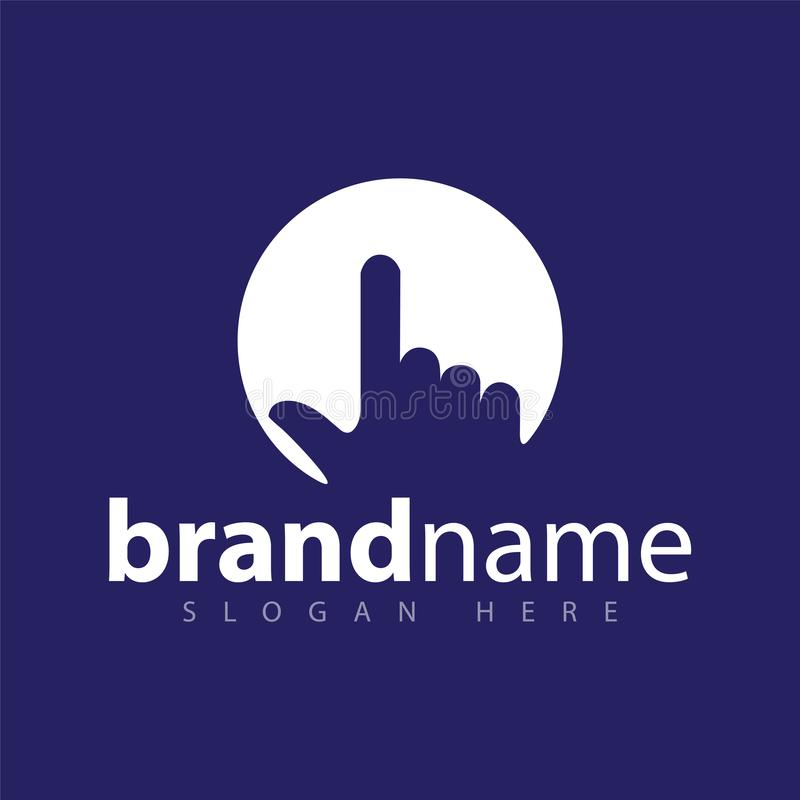 Hand click logo icon stock template stock illustration