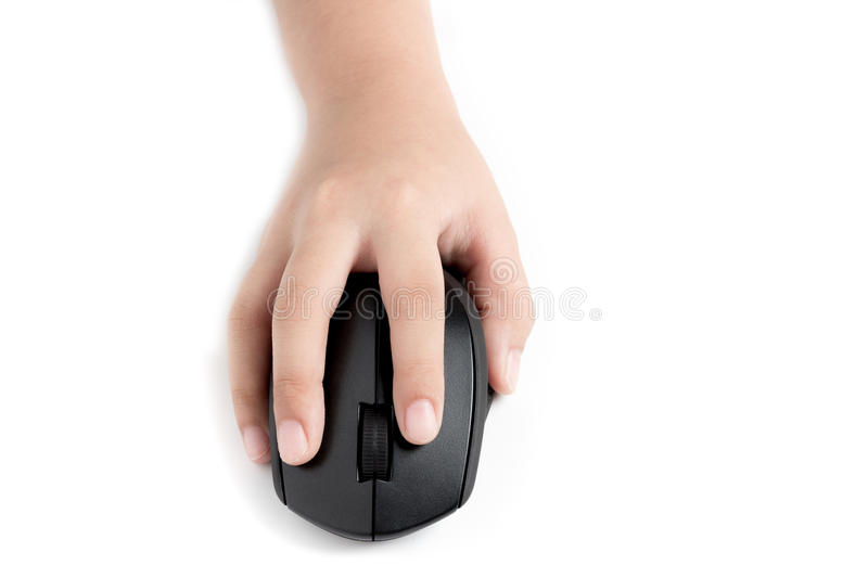 Hand clicking mouse royalty free stock images