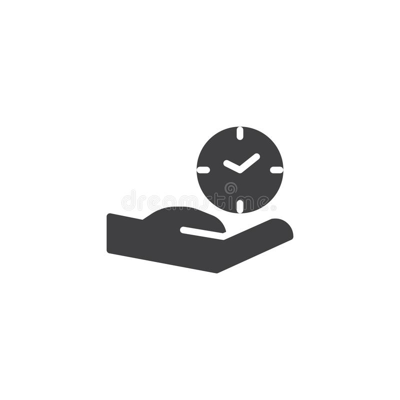 Hand and Clock vector icon stock illustration
