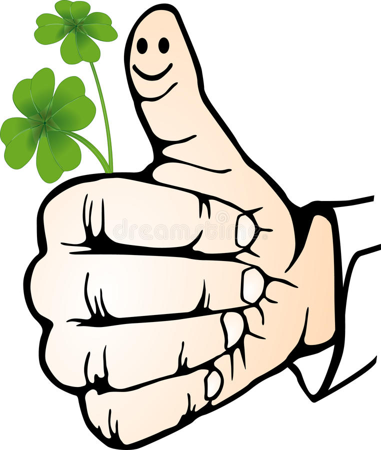 Hand Clover Royalty Free Stock Images