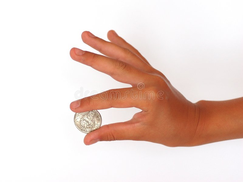 Download Hand With A Coin 2 Stock Photos - Image: 4433023