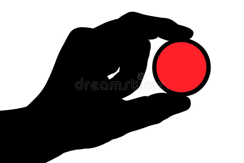 Hand with color filter 1 royalty free stock photos