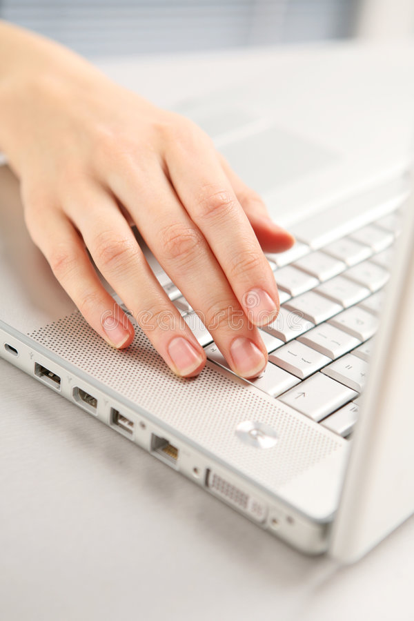 Download Hand And Computer. Royalty Free Stock Photo - Image: 8134295