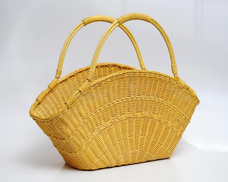 Hand crafted rattan bag. That design by local designer from Malaysian Handicraft Developement Corporation royalty free stock image