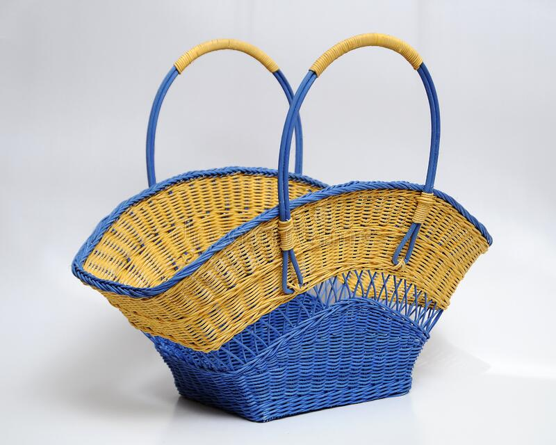 Hand crafted rattan bag. That weaved by local craftwoman from Negeri Sembilan state in Malaysia royalty free stock images