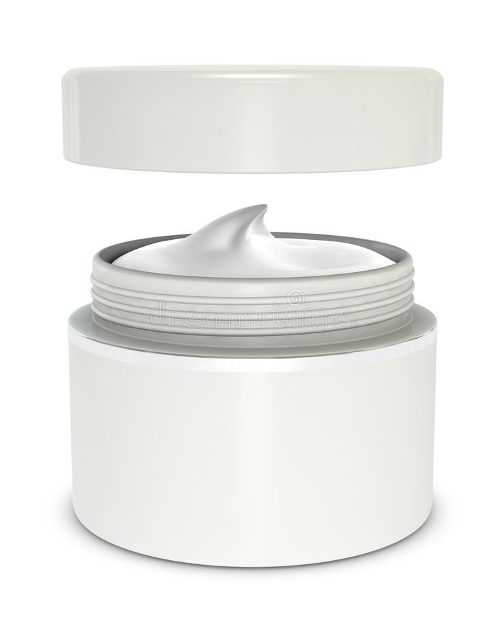 Hand cream box stock illustration