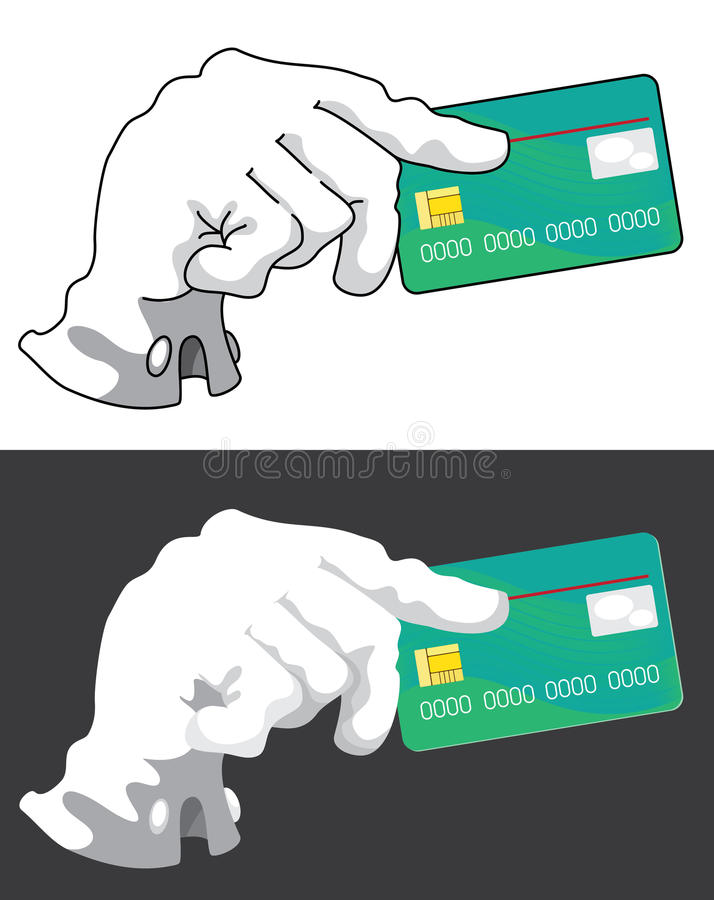 Download Hand with credit card stock vector. Image of currency - 22427282