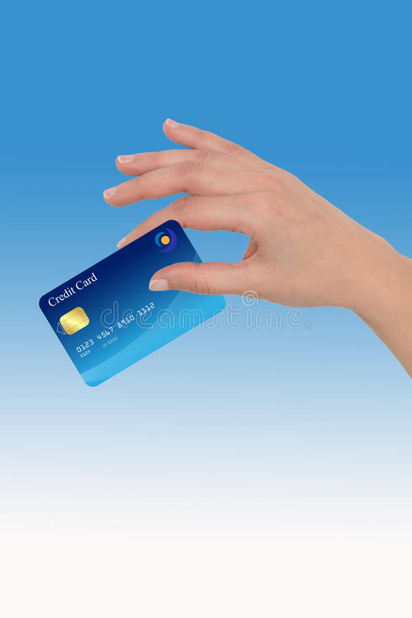 Hand with credit card royalty free stock photo
