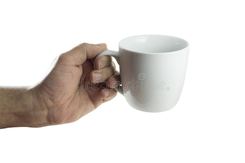 Hand with cup stock photography