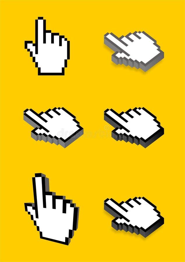 Hand cursor stock photo