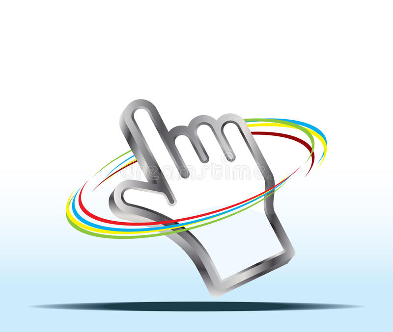 Download Hand cursor stock vector. Image of link, hand, selection - 24448922