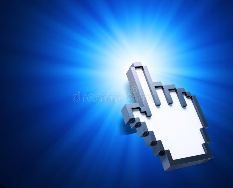 Download Hand cursor background stock illustration. Image of enter - 26015911