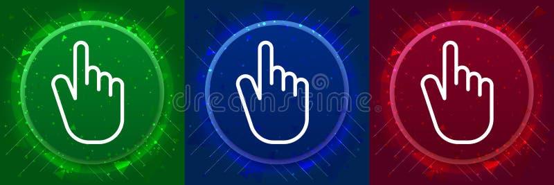 Hand cursor click icon elegant modern design abstract buttons set illustration stock illustration