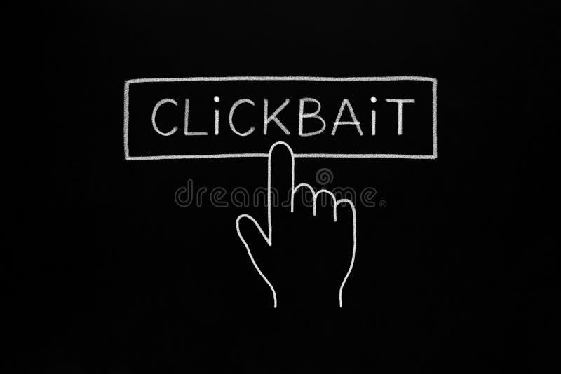Hand Cursor Clicking Clickbait Button Concept stock illustration