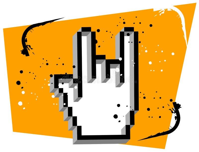 Hand Cursor Metal Music vector illustration