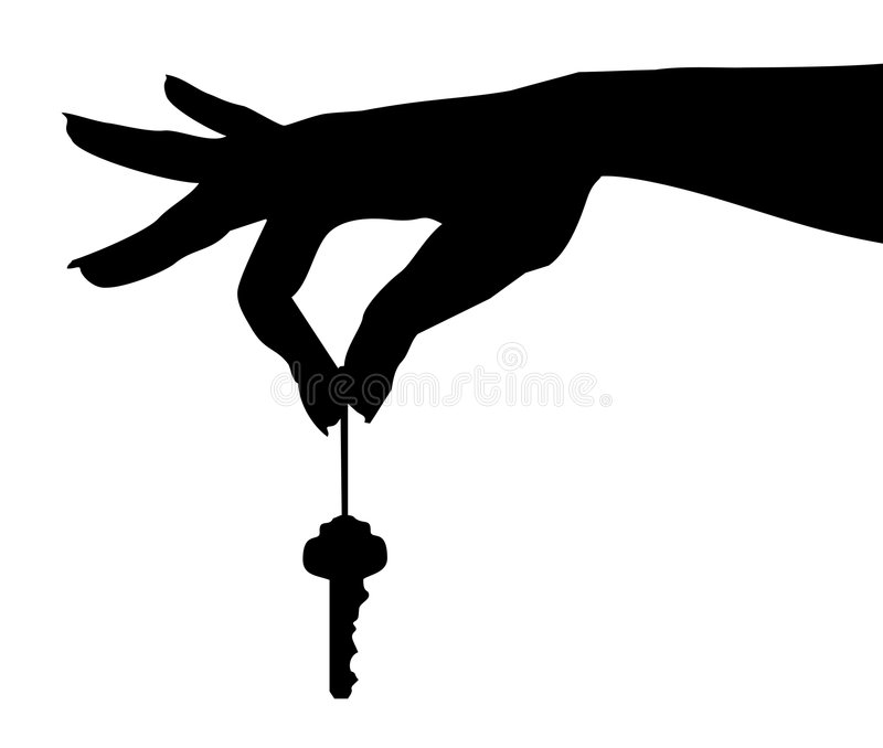 Hand Dangles Key-vector royalty free illustration