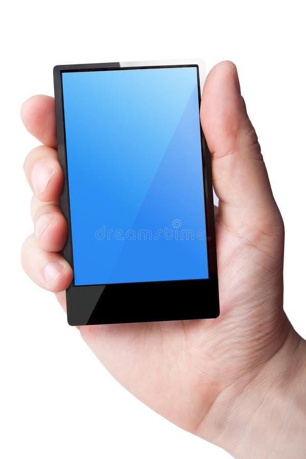in Hand de Telefoon van de cel stock afbeeldingen