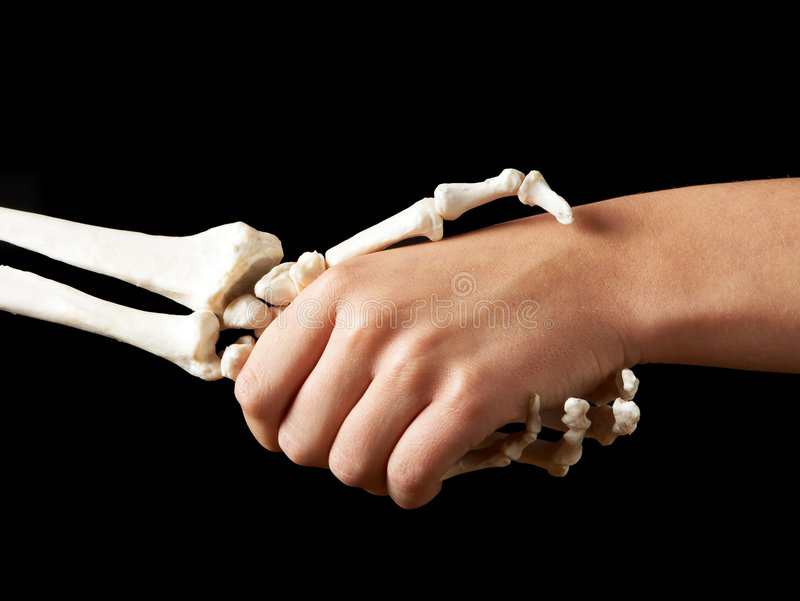 Hand of death royalty free stock image