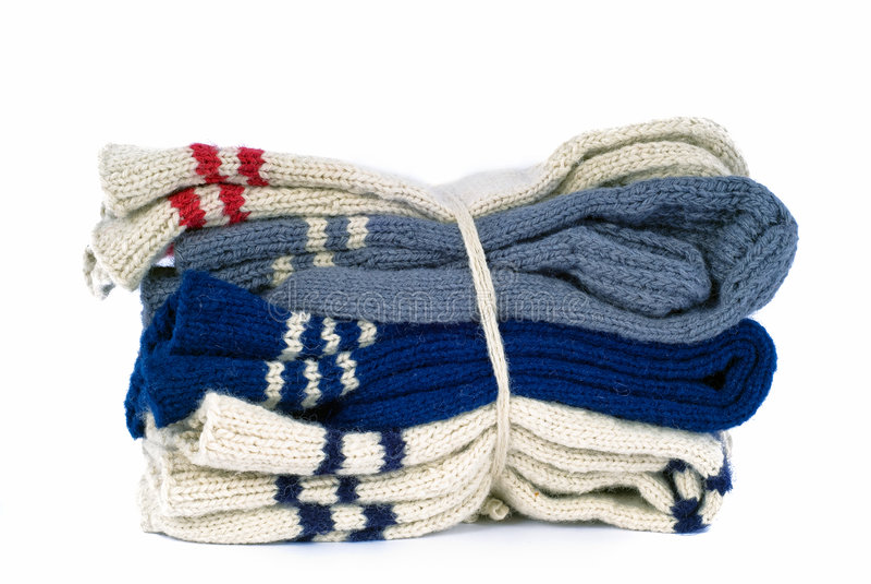 hand - den gjorda packen slår woollen arkivfoton