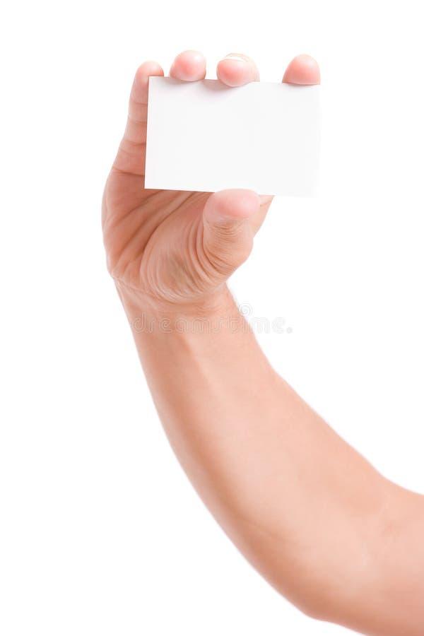 Hand der anbietenkarte des Geschäftsmannes lizenzfreie stockfotografie