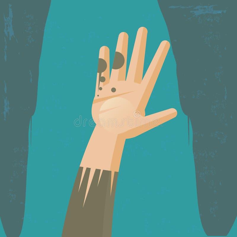 Hand der Armut stock abbildung