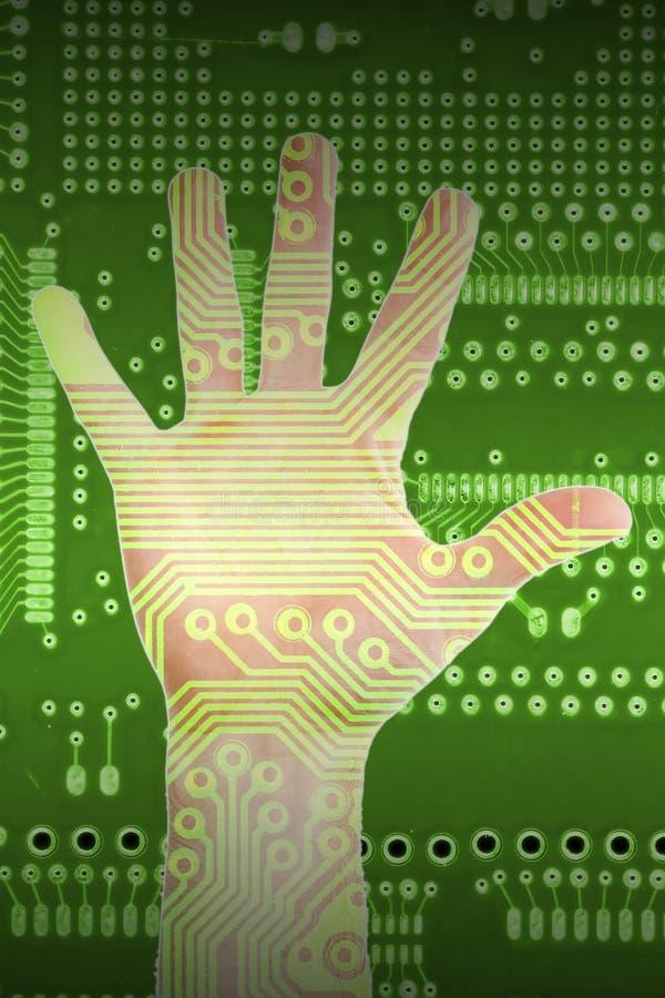 Hand der Technologie stockfotografie