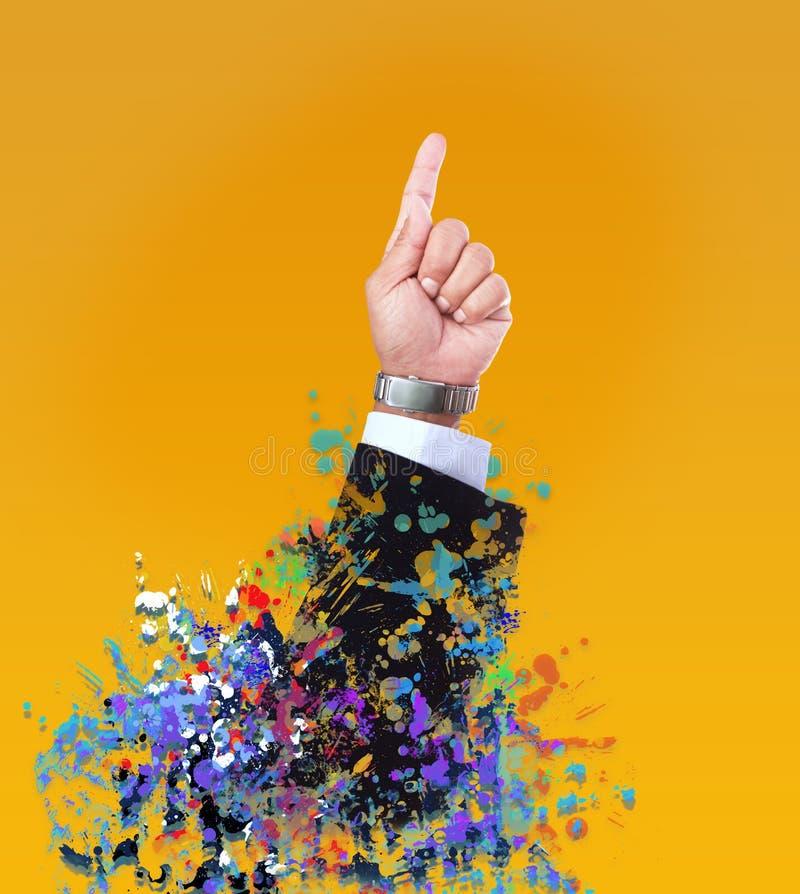Hand des Führermanngebrauches für Geschäftsthema oder Vielzweck lizenzfreies stockfoto