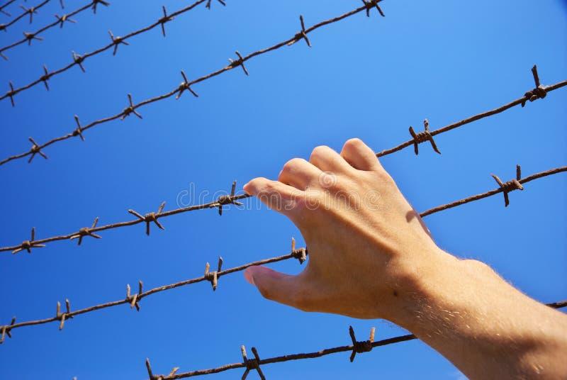 Hand des Gefängnisses stockfotografie