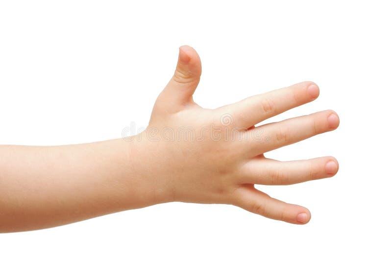 Hand des Kindes stockbild