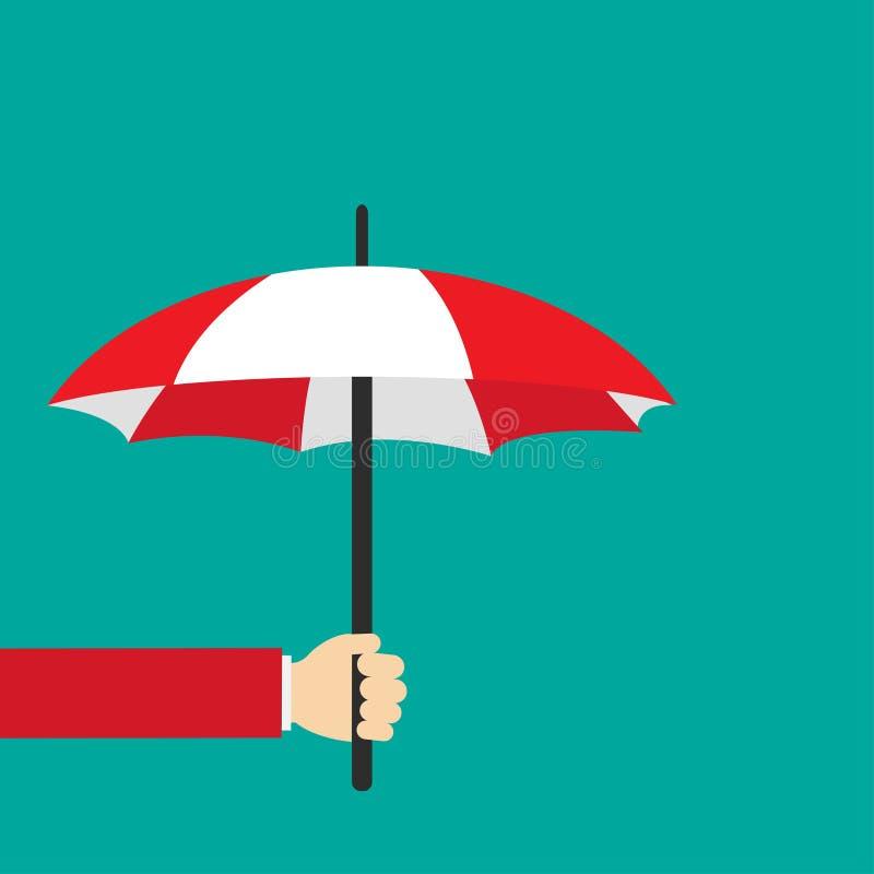 Hand des Mannes einen Regenschirm halten Auch im corel abgehobenen Betrag vektor abbildung