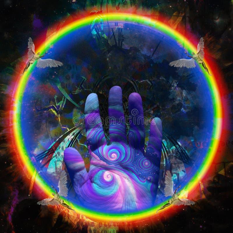 Hand des Schöpfers stock abbildung