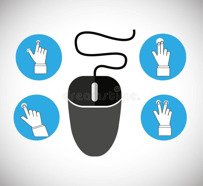 Hand on device design. Illustration eps10 graphic vector illustration