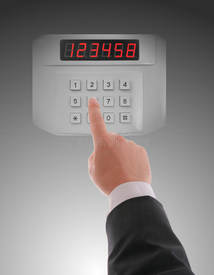 Download Hand dialling on keypad stock photo. Image of bank, computer - 27010564