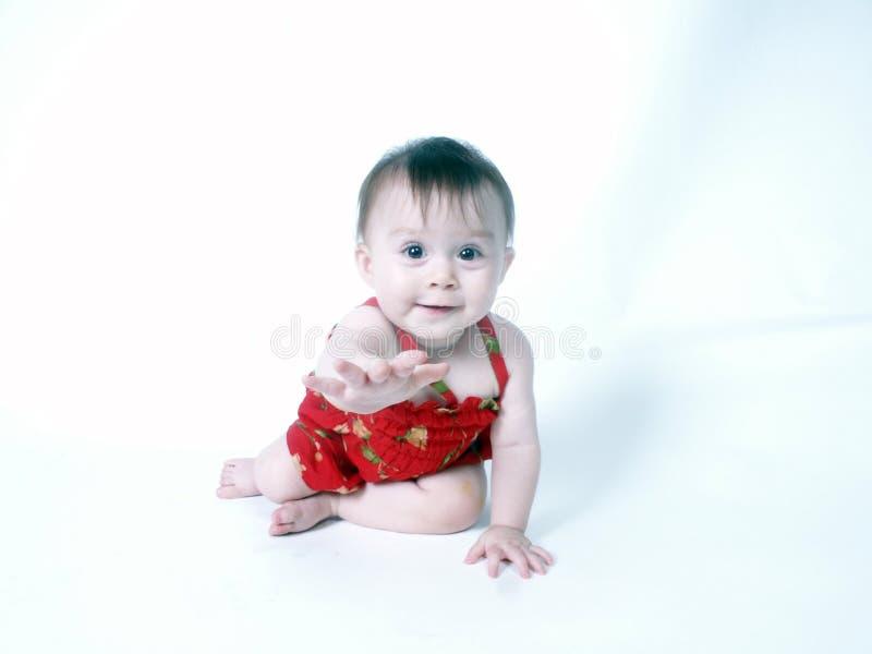 Hand die baby geeft royalty-vrije stock afbeeldingen