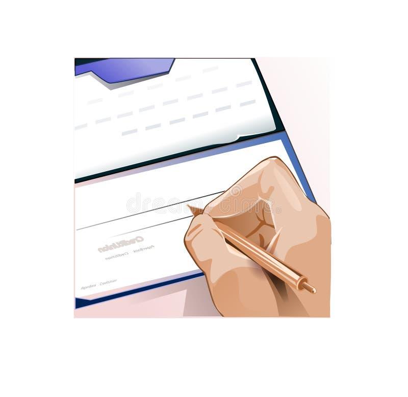 Hand die controle ondertekent stock illustratie