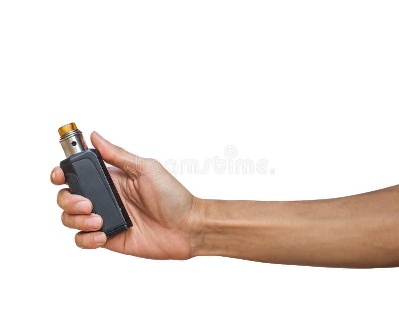 Hand die de Elektrische sigaret van de sigaretdamp houden royalty-vrije stock fotografie