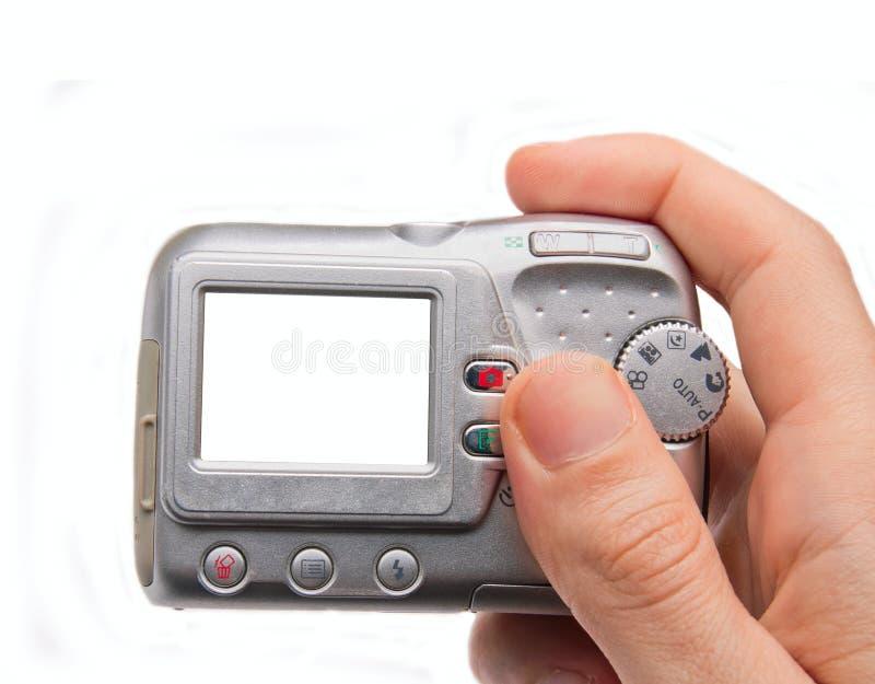 Hand die digitale camera houdt royalty-vrije stock foto