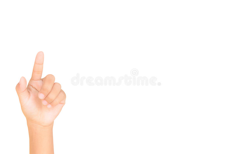 Hand die drukkend een knoop simuleert royalty-vrije stock afbeelding