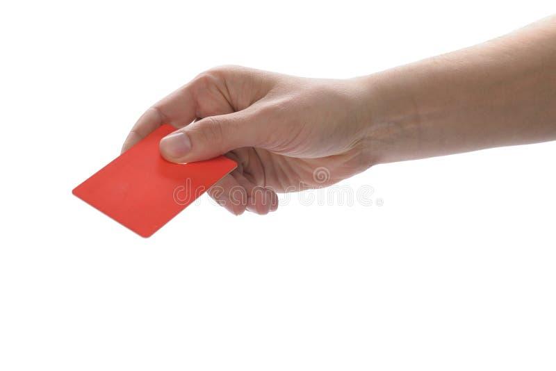 Hand die een creditcard houden royalty-vrije stock foto