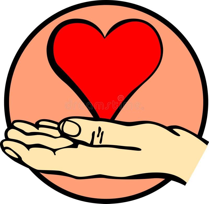 Hand die een hart houdt vector illustratie