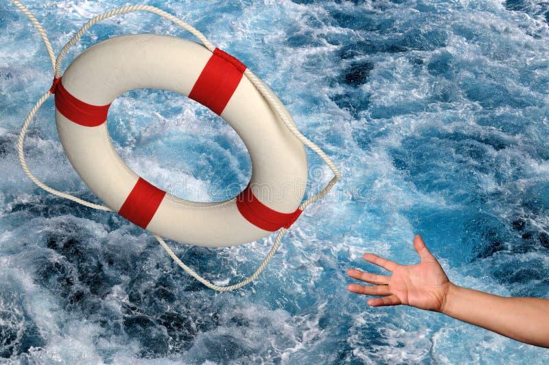 Download Hand, Die Für Lifering Erreicht Stockbild - Bild von hilfe, unfall: 9089341