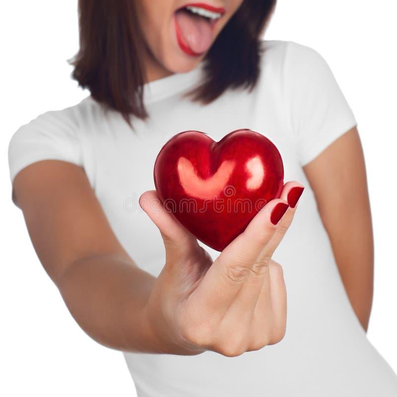 Hand die hart tonen royalty-vrije stock afbeeldingen